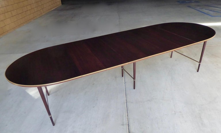 Mid-Century Modern 1950s Connoisseur Collection Mahogany Dining Table by Paul McCobb For Sale