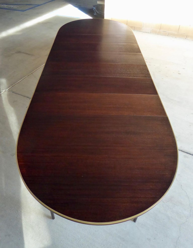 American 1950s Connoisseur Collection Mahogany Dining Table by Paul McCobb For Sale