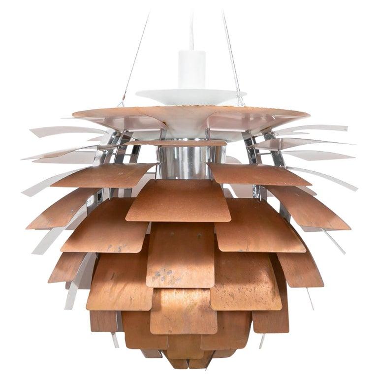 1950s Copper Ceiling Lamp 'Artichoke' by Poul Henningsen 'a' For Sale