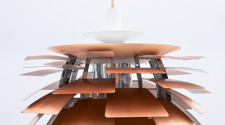 Mid-Century Modern 1950s Copper Ceiling Lamp 'Artichoke' by Poul Henningsen For Sale