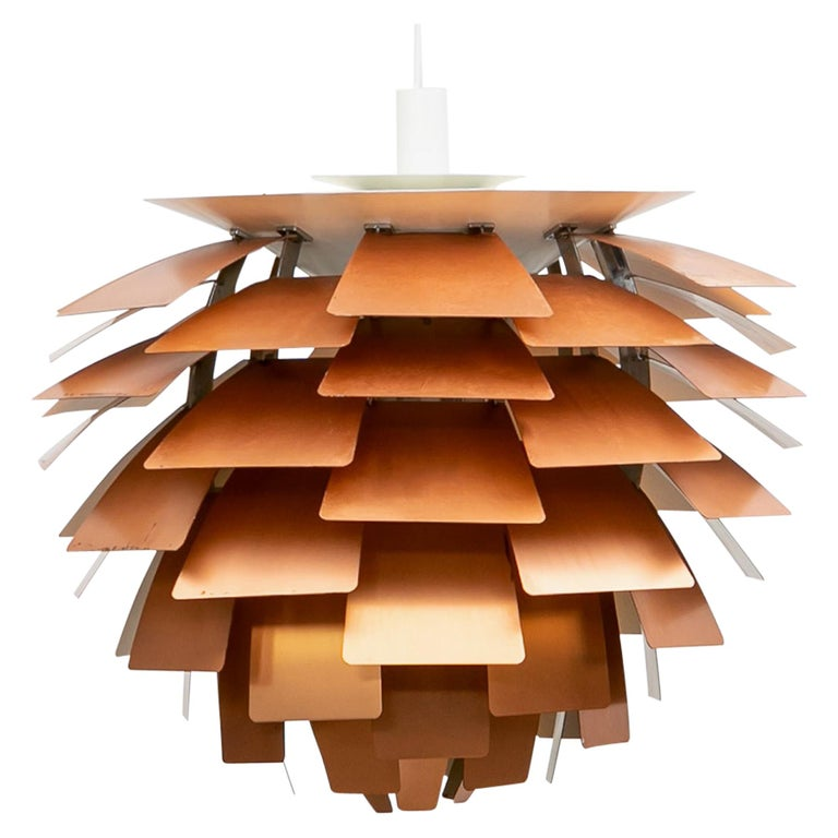 1950s Copper Ceiling Lamp 'Artichoke' by Poul Henningsen For Sale