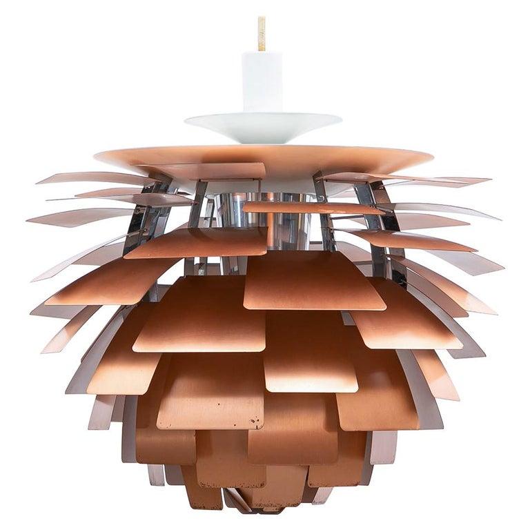 1950s Copper Ceiling Lamp 'Artichoke' by Poul Henningsen For Sale