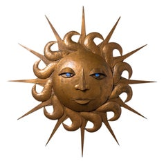 "1950s Copper ""Sun"" Wall Sculpture"