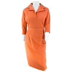 1950s Coral Light Wool Two-Piece Day Suit