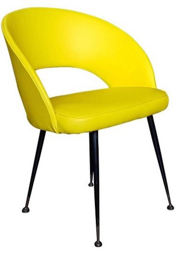 1950s Pair of Yellow Armchairs In Good Condition For Sale In Roma, IT