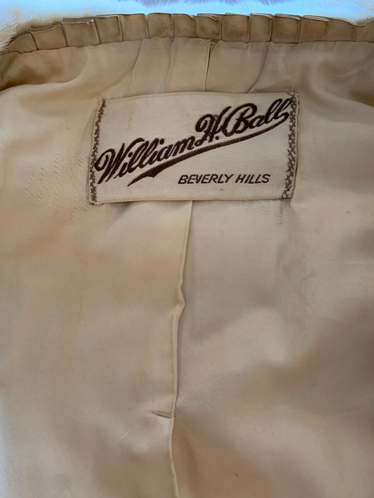 1950s Cream Ermine Evening Jacket W/ Wide Collar and Elbow Cuffed Sleeves For Sale 15