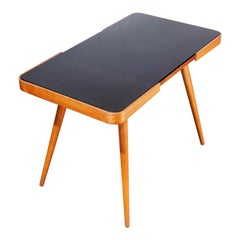 1950s Czech Side Occasional Table by Jiri Jiroutek, Black Opaxit Glass