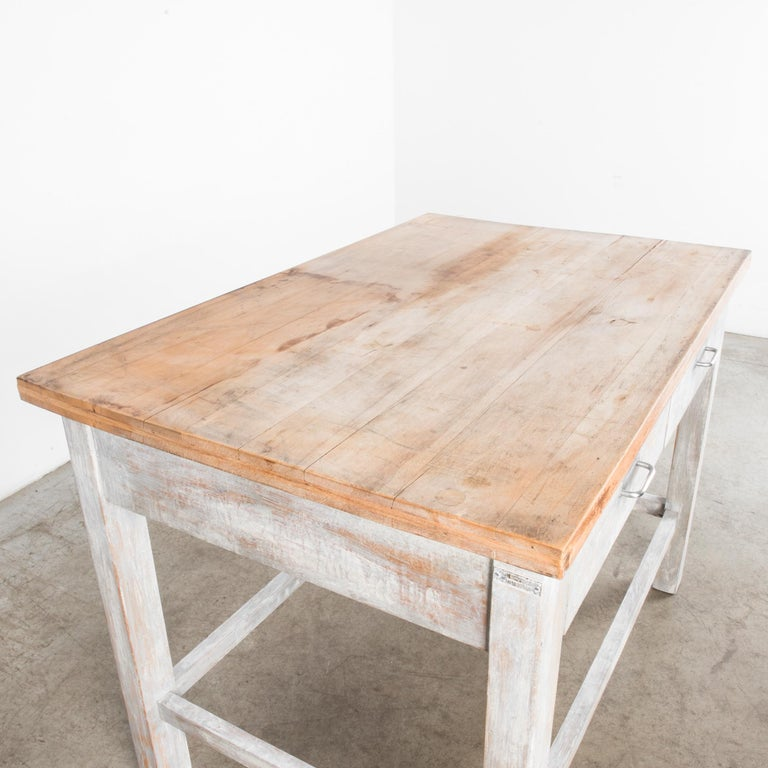 1950s Czech Wood Patinated Table For Sale 4