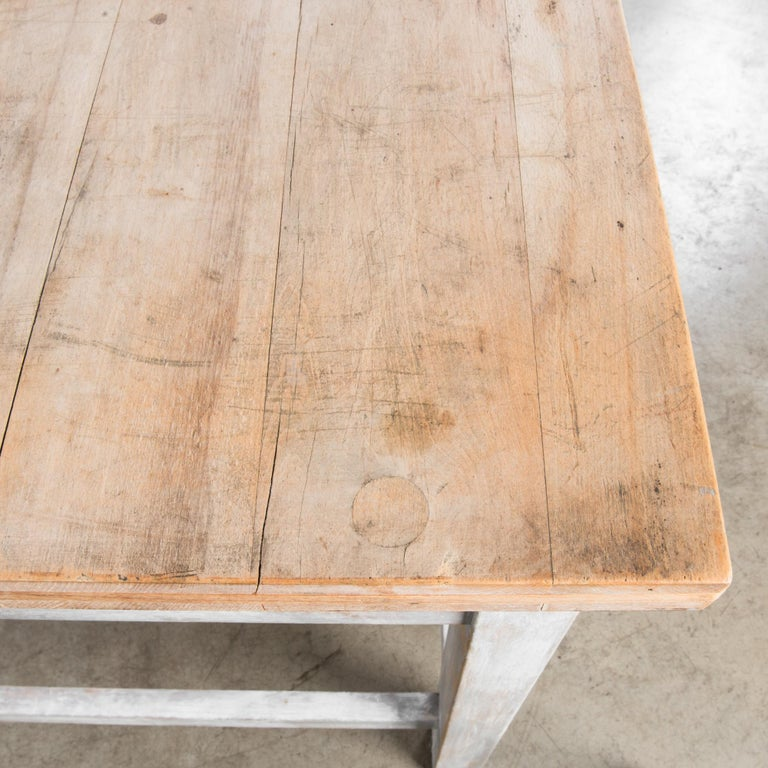 1950s Czech Wood Patinated Table For Sale 5