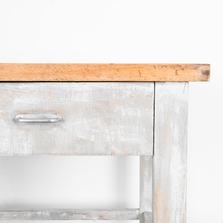 1950s Czech Wood Patinated Table For Sale 1
