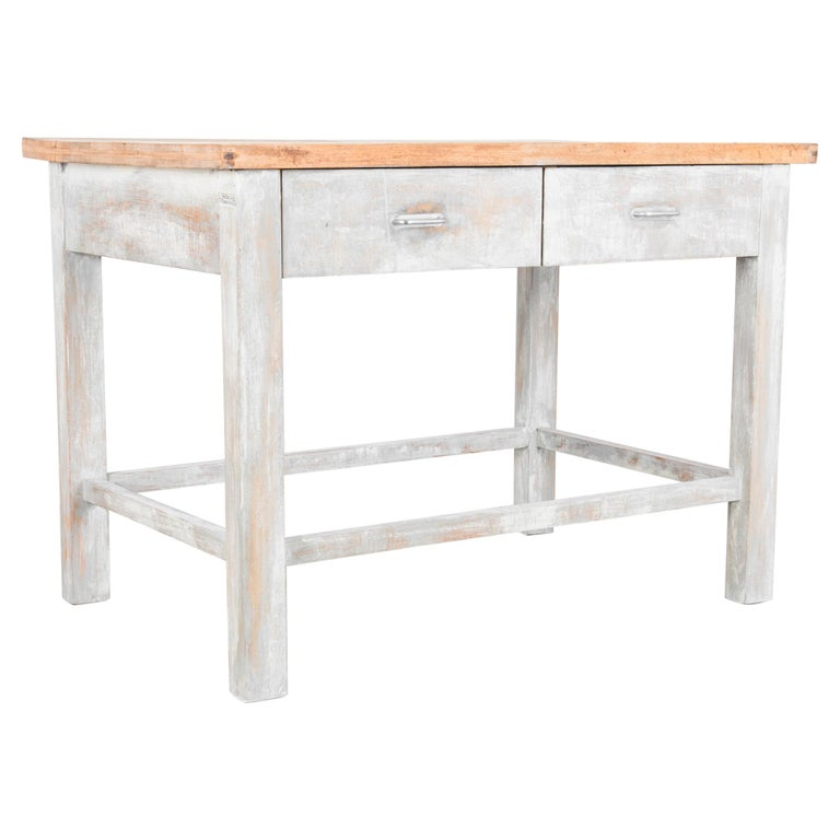 1950s Czech Wood Patinated Table For Sale