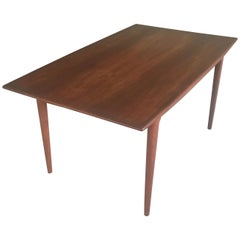 1950s Danish Alfred Christensen Expandable Teak Dining Table by Slagelse Mobler