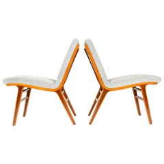 1950s Danish 'Ax' Chairs by Peter Hvidt & Orla Mölgaard-Nielsen for Fritz Hansen