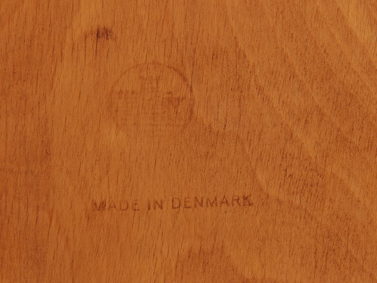 1950s Danish Dining Chairs by Borge Mogensen in Teak and Beech For Sale 2