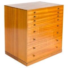 1950s Danish Flat File Cabinet by Mogens Koch for Rud Rasmussen