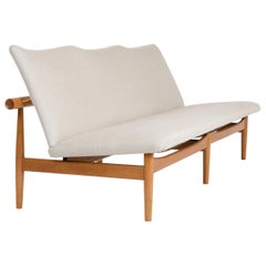 1950s Danish 'Japan Sofa' in Linen Upholstery by Finn Juhl for France & Son