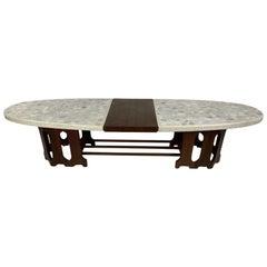 1950s Danish Modern Harvey Probber Marble-Top Coffee Table