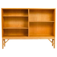 1950s Danish Oak Bookcase by Borge Mogensen