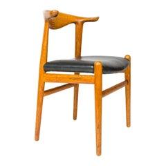 1950s Danish Oak Cow Horn Chair by Hans J. Wegner for Johannes Hansen