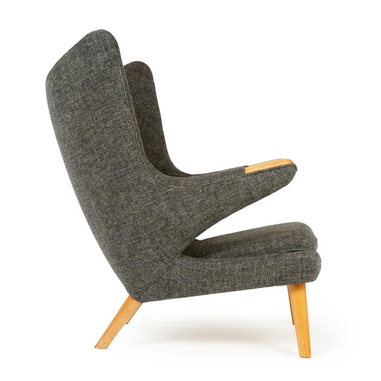 Mid-Century Modern 1950s Danish Papa Bear Chair and Ottoman by Hans J. Wegner for A.P. Stolen For Sale