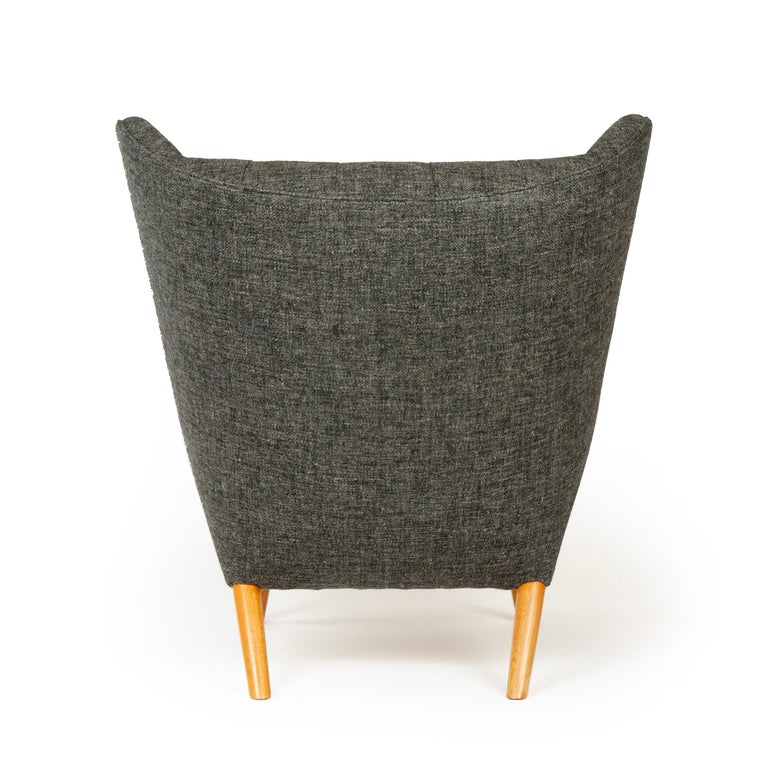 Mid-20th Century 1950s Danish Papa Bear Chair and Ottoman by Hans J. Wegner for A.P. Stolen For Sale