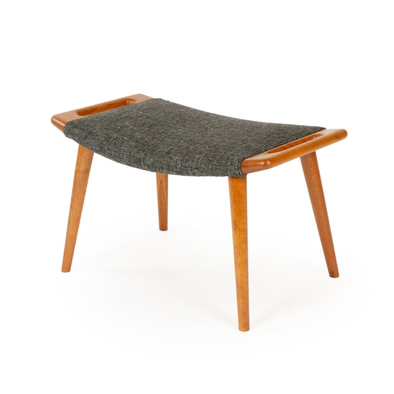 1950s Danish Papa Bear Chair and Ottoman by Hans J. Wegner for A.P. Stolen For Sale 1
