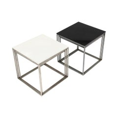 1950s Danish PK-71 Nesting Tables by Poul Kjaerholm for Fritz Hansen in Black