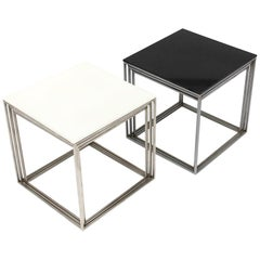 1950s Danish PK-71 Nesting Tables by Poul Kjaerholm for Fritz Hansen in White