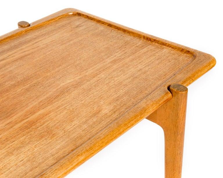 1950s Danish Reversible Table by Hans J. Wegner for Johannes Hansen For Sale 3