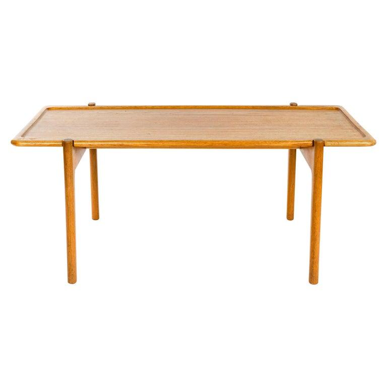 1950s Danish Reversible Table by Hans J. Wegner for Johannes Hansen For Sale