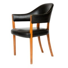 1950s Danish Rosewood Humpback Armchair by Ole Wanscher for A. J. Iversen