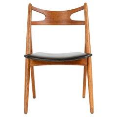 1950s Danish Sawbuck Chair by Hans J. Wegner