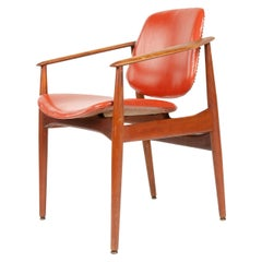 1950s Danish Solid Teak Dining Chair by Arne Vodder for France & Daverkosen