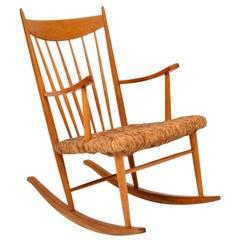1950s Danish Vintage Rocking Chair