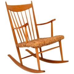 1950s Danish Vintage Rocking Chair
