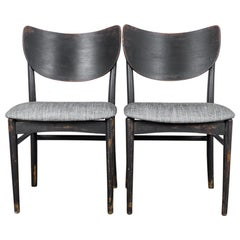 1950s Danish Wooden Side Chairs, a Pair