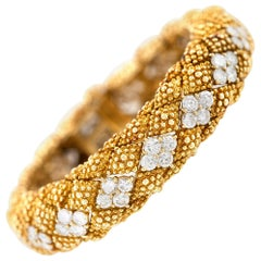 1950s David Webb 18 Karat with Diamonds Bracelet