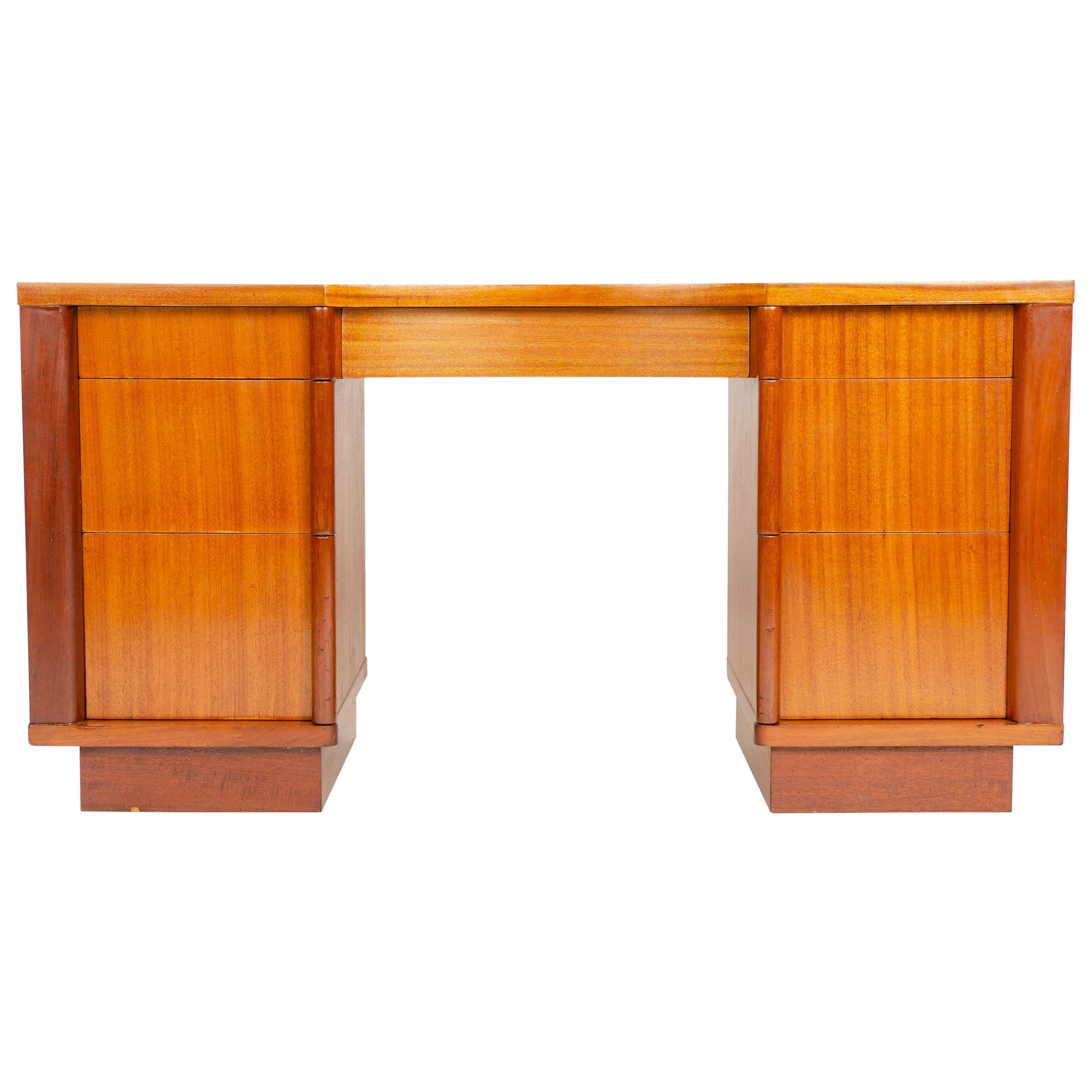 1950s Demilune Vanity or Desk by Edward Wormley for Dunbar