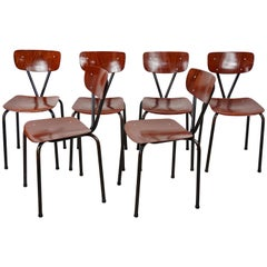 1950s Design Pagwood Pagholz Set of Six Chairs