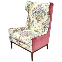 1950's Designer Wingback Chair in the Manner of Gio Ponti