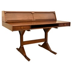 1950s Desk Italian Design by Gianfranco Frattini for Bernini Manufacturer