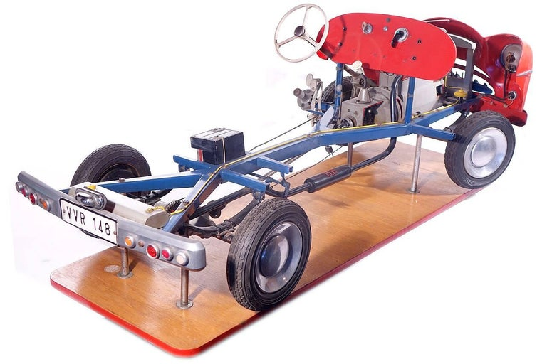 Industrial 1950s Detailed Driving School Model For Sale