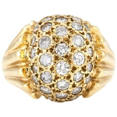 1950s Diamond and Gold Ring