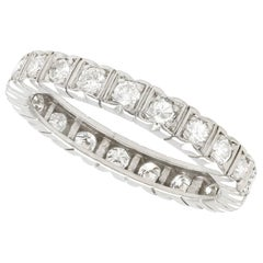 1950s Diamond and Platinum Full Eternity Ring