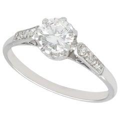 1950s Diamond and Platinum Solitaire Engagement Ring