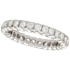 1950s Diamond and White Gold Full Eternity Ring
