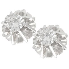 1950s Diamond and White Gold Stud Earrings