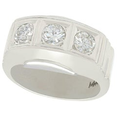 1950s Diamond and White Gold Trilogy Ring