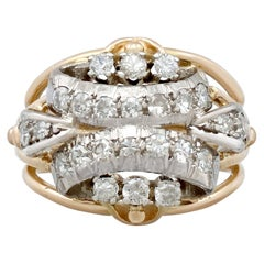 1950s Diamond and Yellow Gold Cocktail Ring