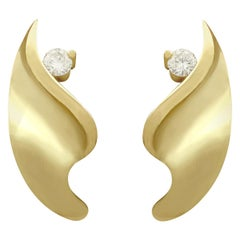 1950s Diamond and Yellow Gold Earrings